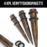 "Ventyskorupaketti ""4 kpl Palm Wood Organic Taper with Two O-Rings"""