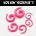 "Venytyskoru Starter Kit 3 mm - 8 mm Spiral ""Pink""  5 kpl"