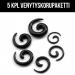 "Venytyskoru Starter Kit 3 mm -8 mm Spiral ""Black""  5 kpl"