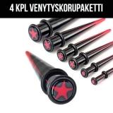 """Venytyskorupaketti """"4 kpl Red Star"""""""
