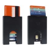 """Walter Wallet-Korttikotelo """"Slim Aluminium Black 7 Cards"""""""