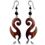 "Puiset korvakorut ""Wooden Spiral Earrings"""