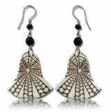 """Korvakorut Shell resin earring """"White"""""""