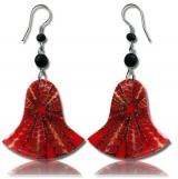 """Korvakorut Shell resin earring """"Red"""""""