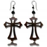 "Puiset korvakorut ""Wooden cross earring"""