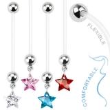 Napakoru Pregnancy Navel Ring with Star Gem Dangle