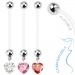 Napakoru Bio Flex Pregnancy Navel Ring with Heart Gem Dangle