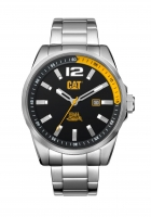 Caterpillar-Kello Oslo Steel Black/yellow 45 mm WT.141.11.137