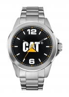Caterpillar-Kello Icon Steel Black/white 45 mm YS.140.11.131