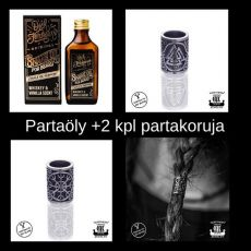 Partaöljy Snake Oil + Northern Viking Jewelry® Partakorut
